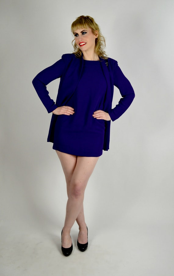 Vintage Purple Suit Womens Professional Clothing Power Etsy