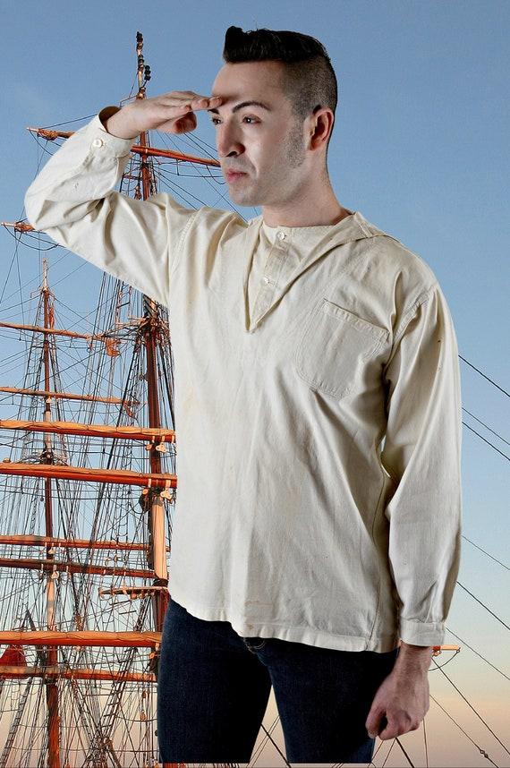 Mens 1900s Sailor Shirt, Cracker Jack Shirt, Victo