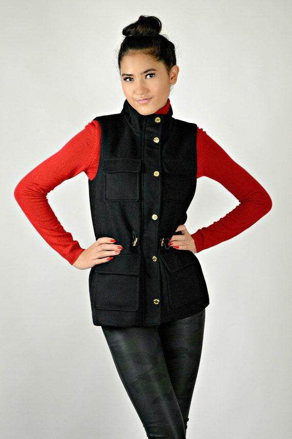 Calvin Klein Black Vest, Minimalist and Functional