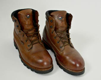Red Wing Boots, Ankle Boots, Work Boots, Leather Boots, Brown Boots, Size 12, Construction Boots, Outdoor Boots, Mens Boots,