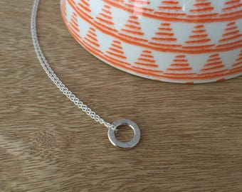 Simple Circle Necklace - Sterling Silver