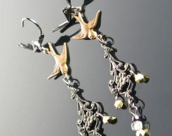 Swallow Chandelier Earrings.