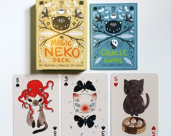 The Magic Neko Deck - Playing card and Oracle deck