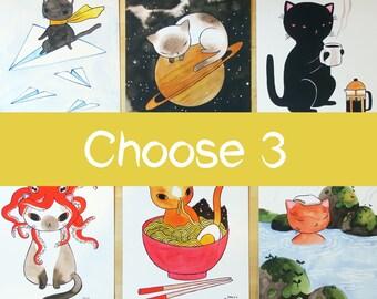 Pick Any 3 Postcards