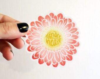 Vinyl Sticker - Tender Heart