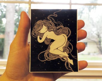 Vinyl Sticker - Sky Nap - witchy nature woman