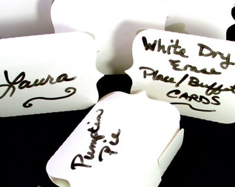 Eco Friendly Tent Style Place Cards, Buffet Tent Cards, Wedding Place Cards, Candy Buffet Cards, Dry Erase Cards, Buffet Table Decor