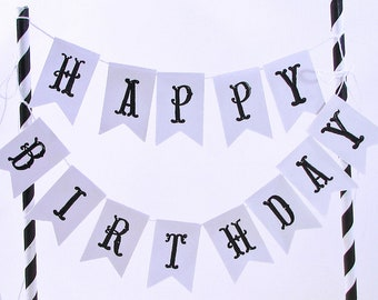 Birthday Cake Topper, Personalized Cake Topper, Birthday Cake Banner, Happy Birthday Cake Topper, Custom Cake Banner, Eco Friendly