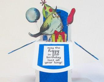 Birthday Card, Pop Up Cards, Birthday Card Friend, Birthday Card Handmade, Gift Card Holder, Pop Up Birthday Card, 3D Cards, Eco Friendly