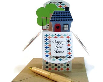 New Home Card, New House Pop Up Card, Housewarming Card, Card For New Home, Housewarming Gift Card, Congratulations on your New Home