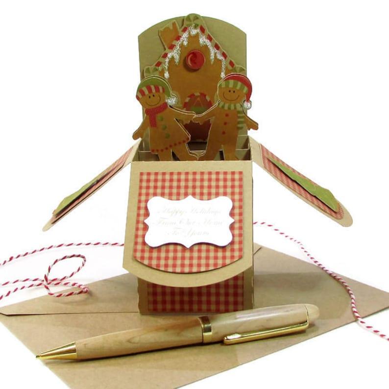 fille Rennes Personalised Handmade Special Nièce Carte de Noël-Noël elle