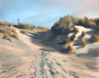 dune landscape painting stretched canvas