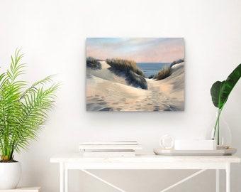 dune landscape painting stretched canvas