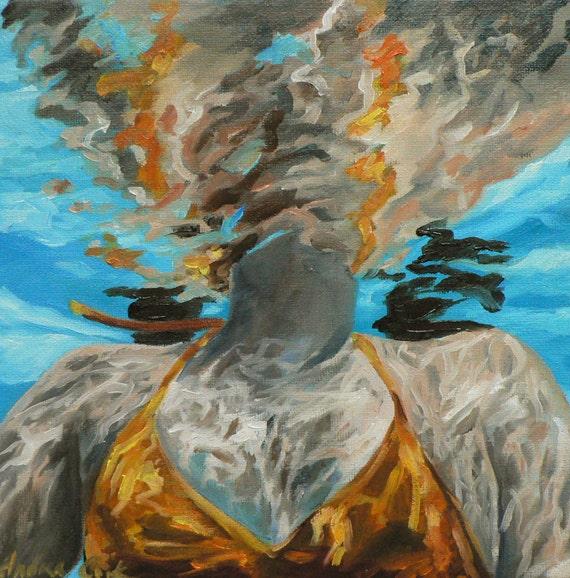 The Swimmer giclee art print
