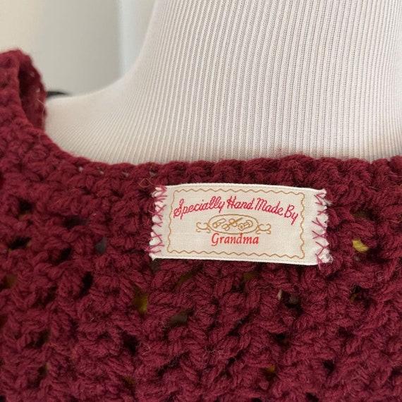 Handmade crochet sweater vest yellows vintage - image 3