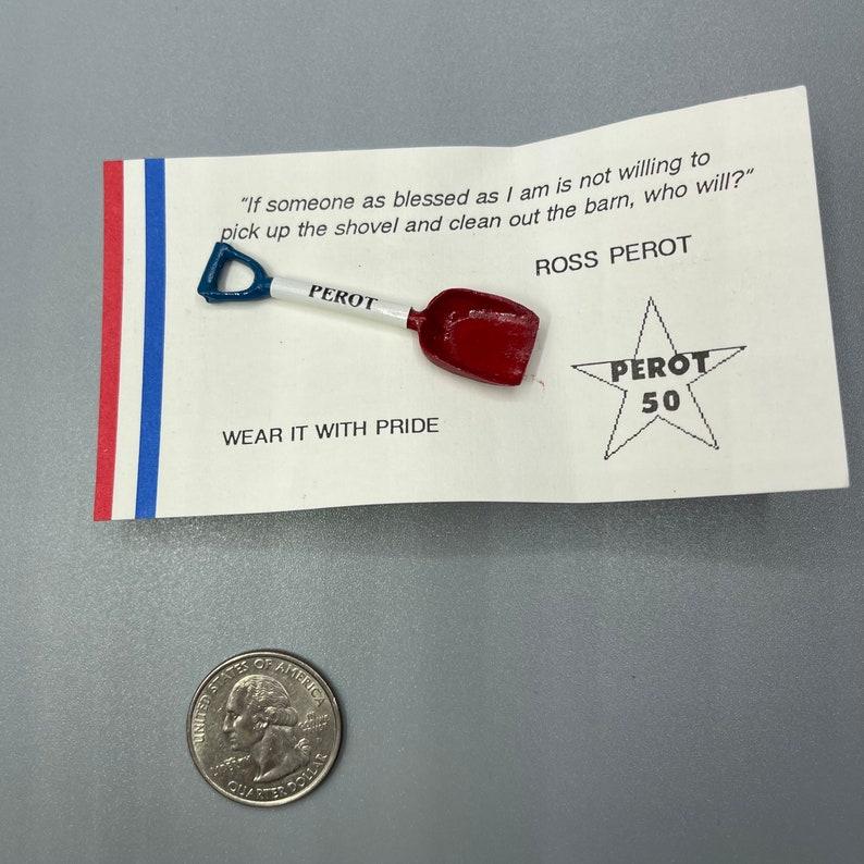 Ross Perot Pooper Scooper political memorabilia pin