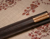 Personalized Maple Chopsticks Leather Holder This is a Combo (2 items) Listing