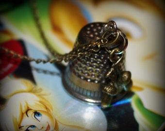 Peter Pan Wendy Thimble Kiss Acorns Charm Necklace