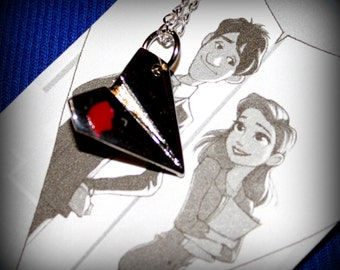 Paper Man Themed Airplane Charm Necklace