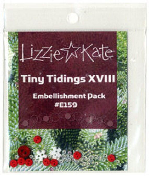 Lizzie Kate Christmas Tiny Tidings XVIII Cross Stitch Chart Embellishment Pack