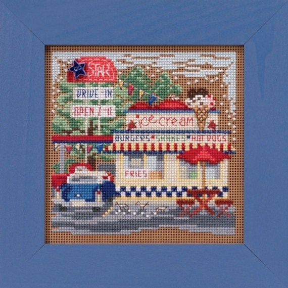 Book Seller Cross Stitch Kit Mill Hill 2012 Buttons /& Beads Winter