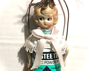 Original Vintage Tin Art Doll - Tooth Fairy Flossy - The Keeper of the lost teeth
