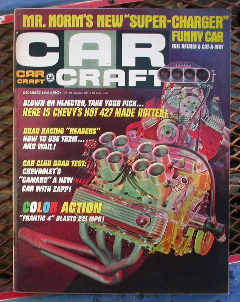 Car Craft December 1966 Vintage Car Magazine Cool Cars Hot Etsy
