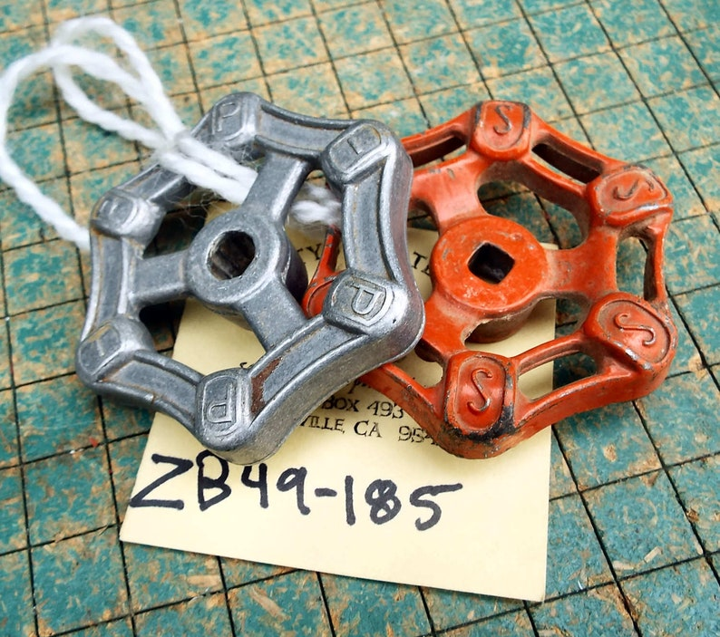 Vintage Antique Cast Steel Aluminum Valve Handles Knobs Industrial Steampunk Architectural & Garden