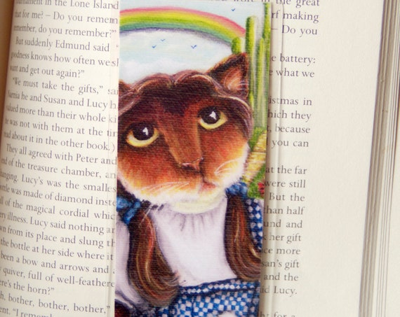 Dorothy Wizard of Oz Calico Cat Bookmark