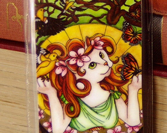Spring Goddess Cat Bookmark