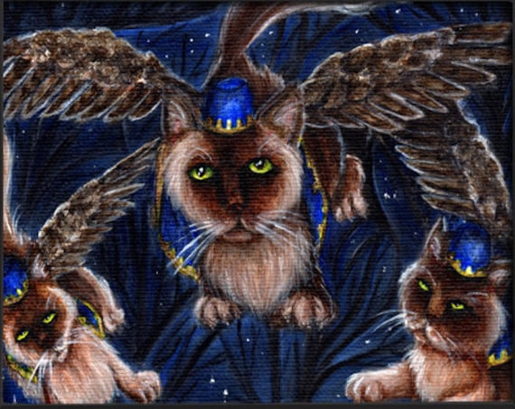 Flying Monkey Cats 5x7 Fine Art Print