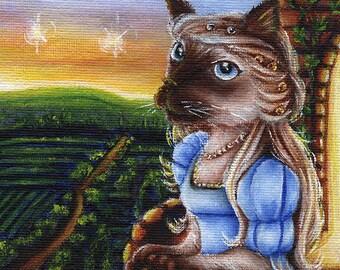 Juliet Capulet Shakespeare Literary Siamese Cat 5x7 Fine Art Print