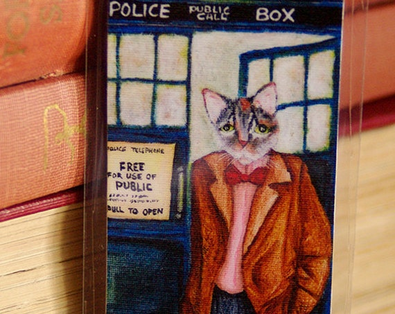 Time Travelling Doctor Cat Bookmark