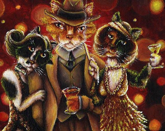 Roaring New Year 8x10 Fine Art Print