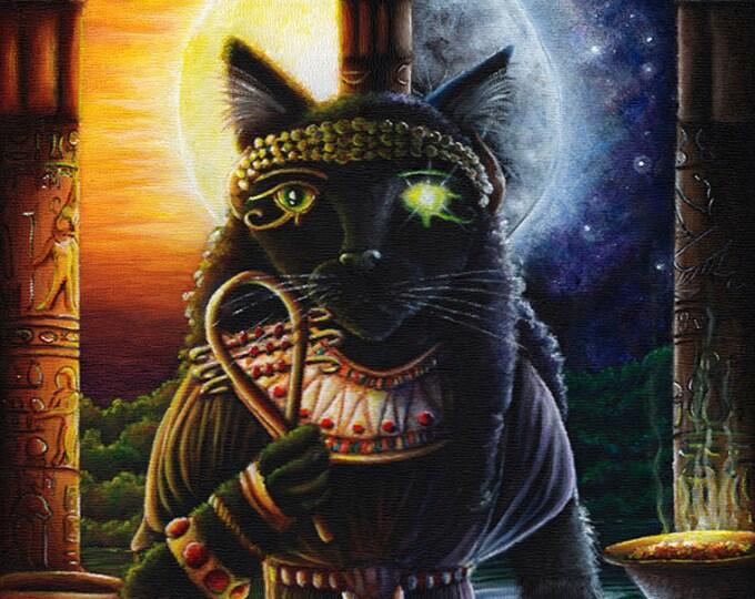 Egyptian Cat Goddess Bast 8x10 Fine Art Print