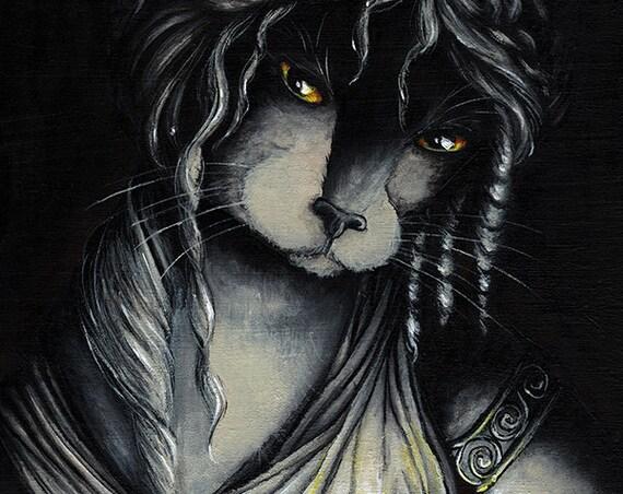 Pandora Box Cat 5x7 Fine Art Print