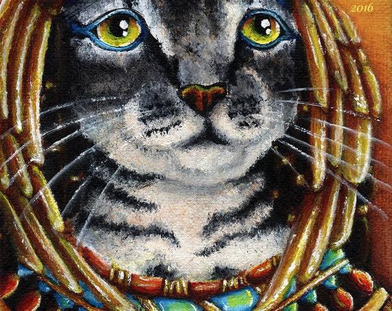 Cleopatra Cat 8x10 Fine Art Print