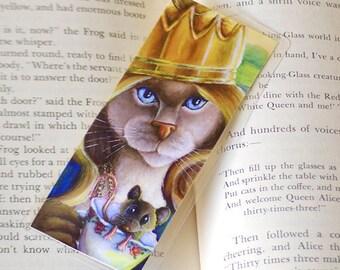 Cat Queen Alice in Wonderland Bookmark