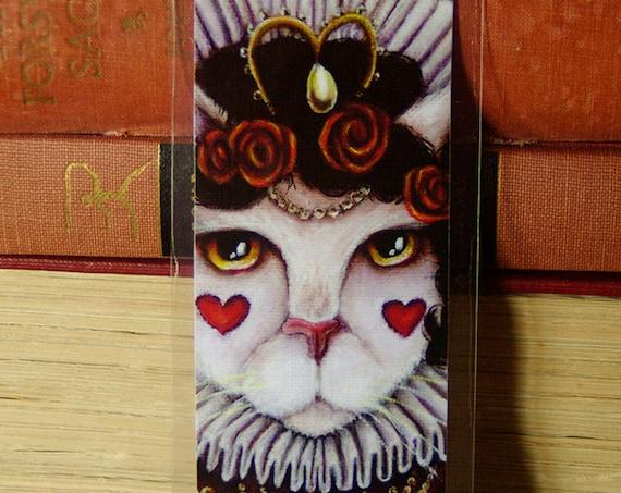Queen of Hearts Cat Alice in Wonderland Bookmark