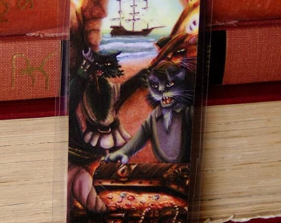 Pirate Cats Treasure Island Bookmark