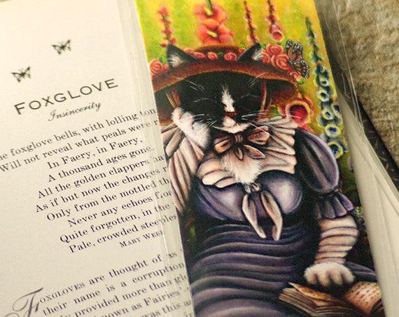 Cottage Garden Cat Bookmark