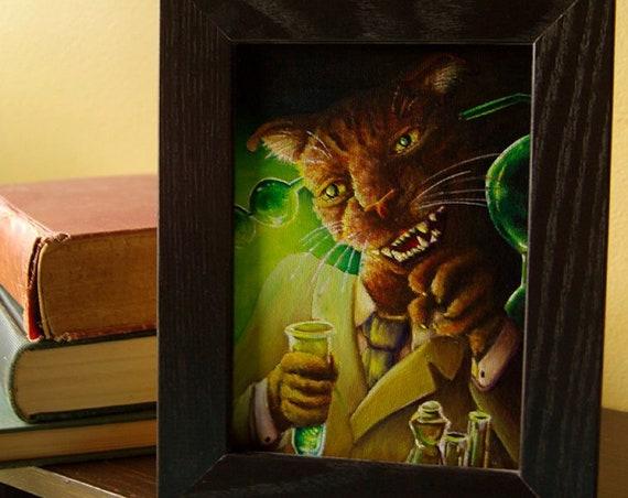 Dr Jekyll Cat Original Acrylic Painting