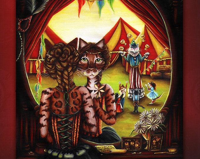 Circus Cats 11x14 Fine Art Print