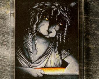 Pandora Cat Art Magnet Greek Mythology Cat Fridge Magnet