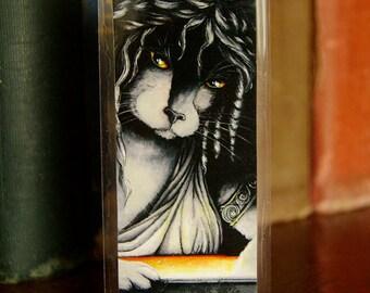 Pandora Cat Bookmark, Greek Mythology Pandora Box Fantasy Cat Art Bookmark