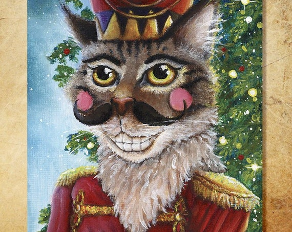 Nutcracker Prince Cat 8x10 Fine Art Print