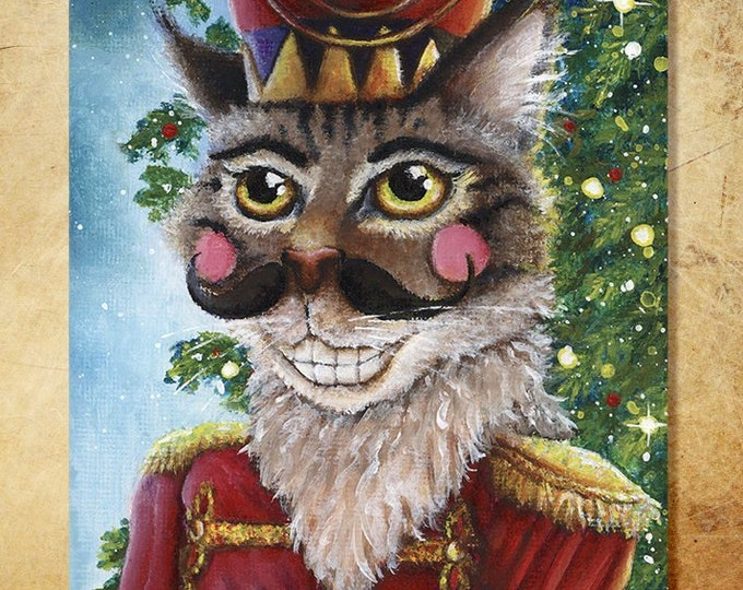 Nutcracker Prince Cat 8x10 Fine Art Print