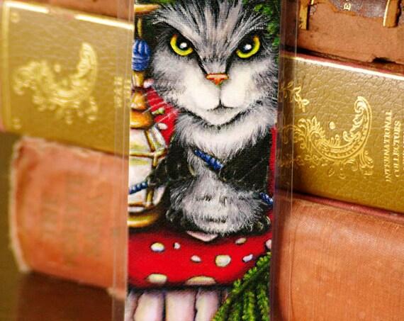 Caterpillar Cat Alice in Wonderland Bookmark