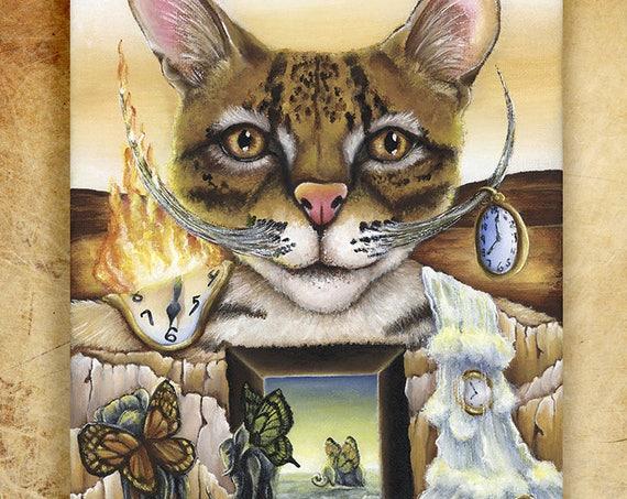 Salvador Dali Ocelot 8x10 Fine Art Print