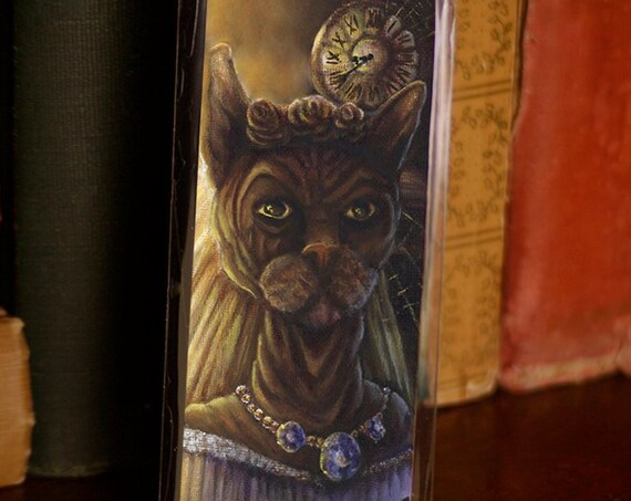 Ms Havisham Sphinx Cat Bookmark